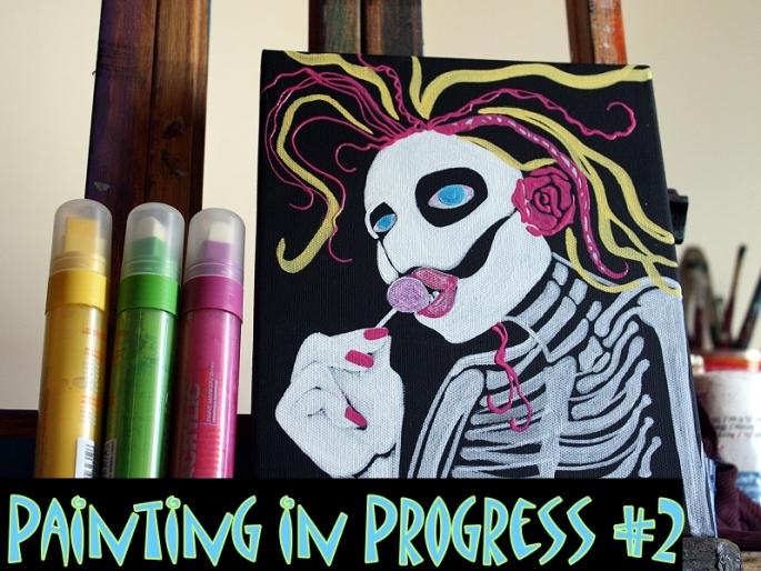 Painting in Progress #2 - Laura Barbosa