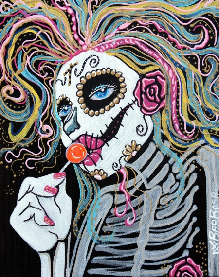 Sugar Skull Lollipop by Laura Barbosa 2013 - day of the dead