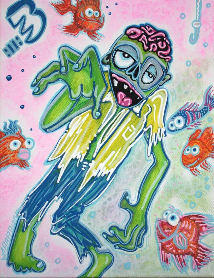 My Pet Zombie 3 Fish Bait by Laura Barbosa - display