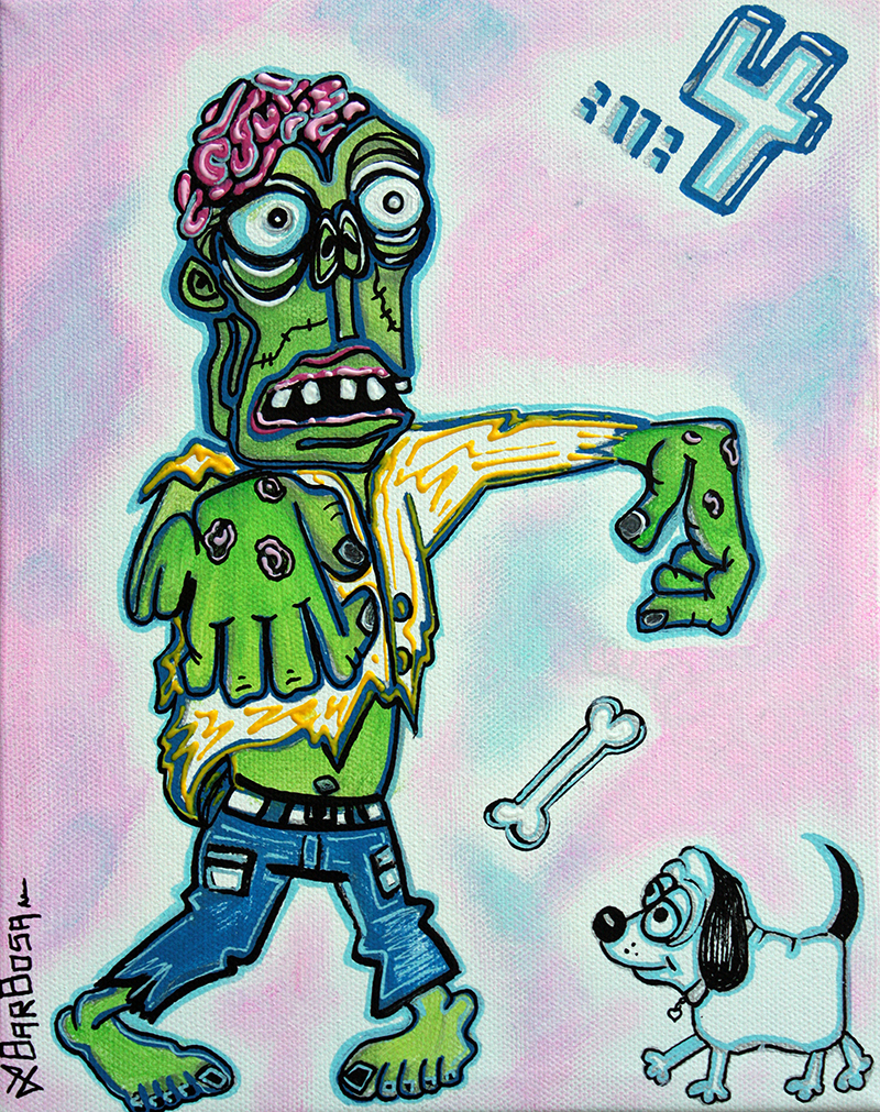 My Pet Zombie - Here Boy by Laura Barbosa - display