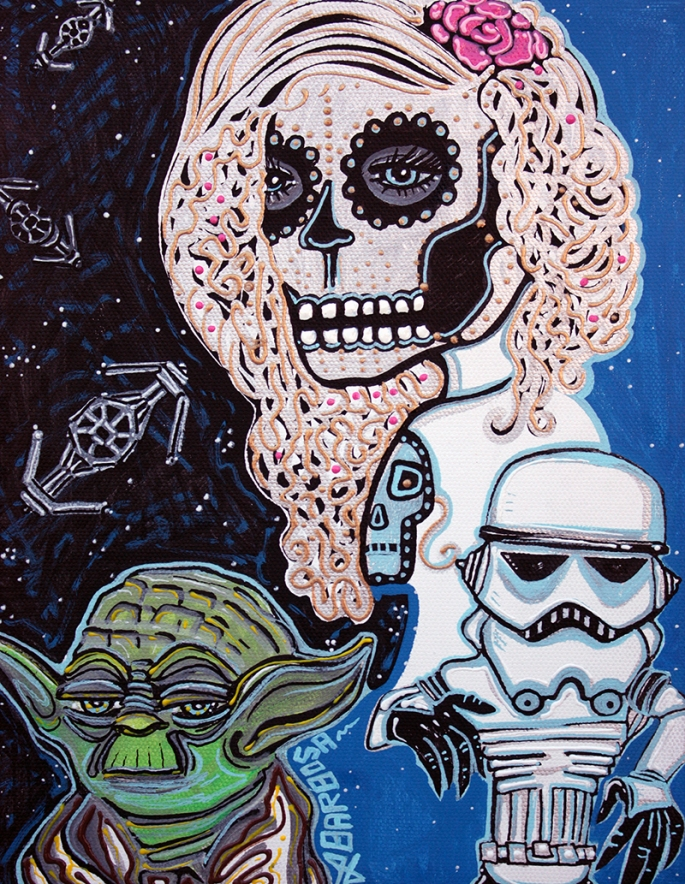 Star Wars Sugar Skull by Laura Barbosa - display
