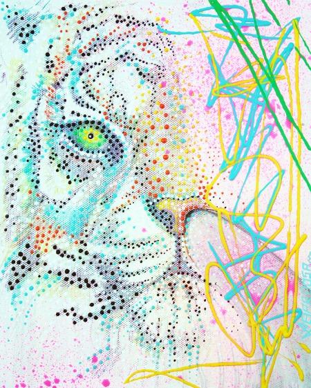 BubbleGum Tiger by Laura Barbiosa 2013 - display