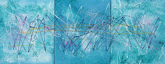 blue abstract art by Laura Barbosa