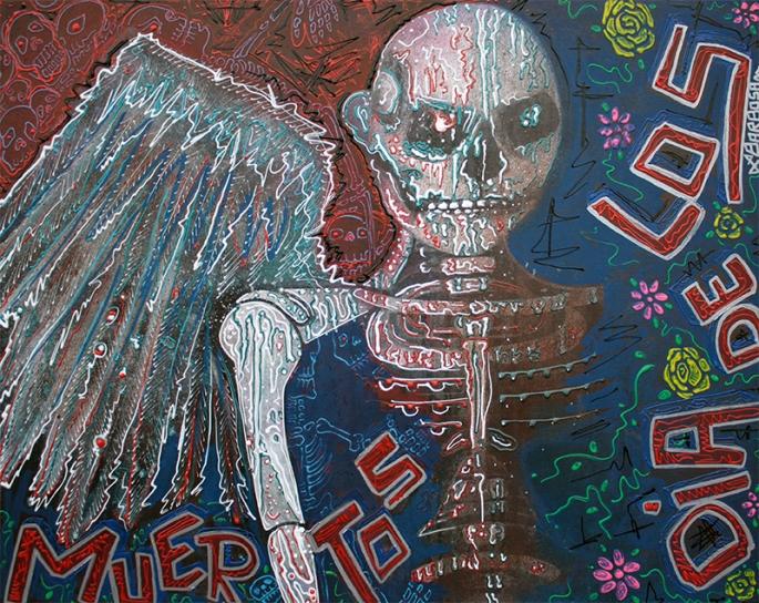 Dia De Los Muertos Angel by Laura Barbosa - display