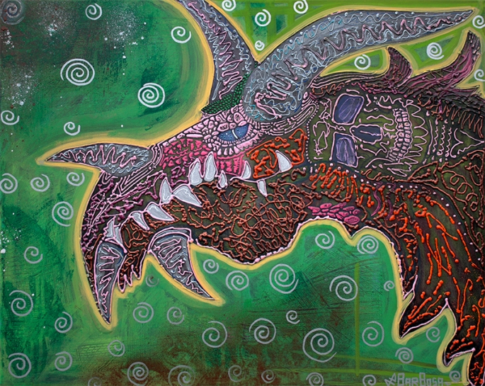 Dragon by Laura Barbosa display
