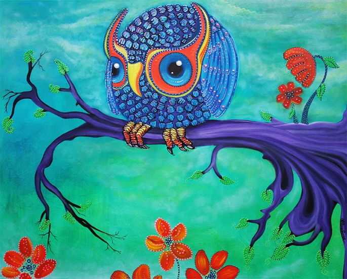 Enchanted Owl by Laura Barbosa - display