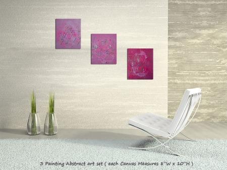 Pink Abstract Art - Laura Barbosa 2013 - Modern Art