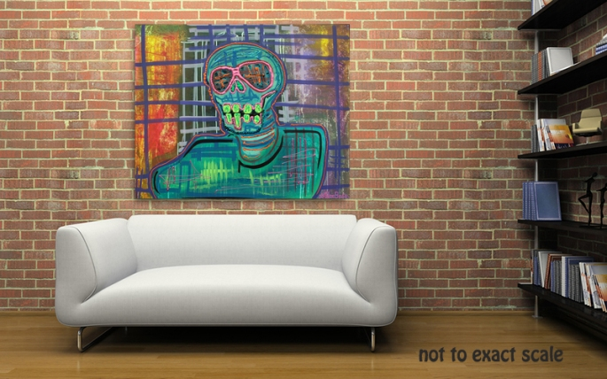 Psychedelic Skull by Laura Barbosa - wall art