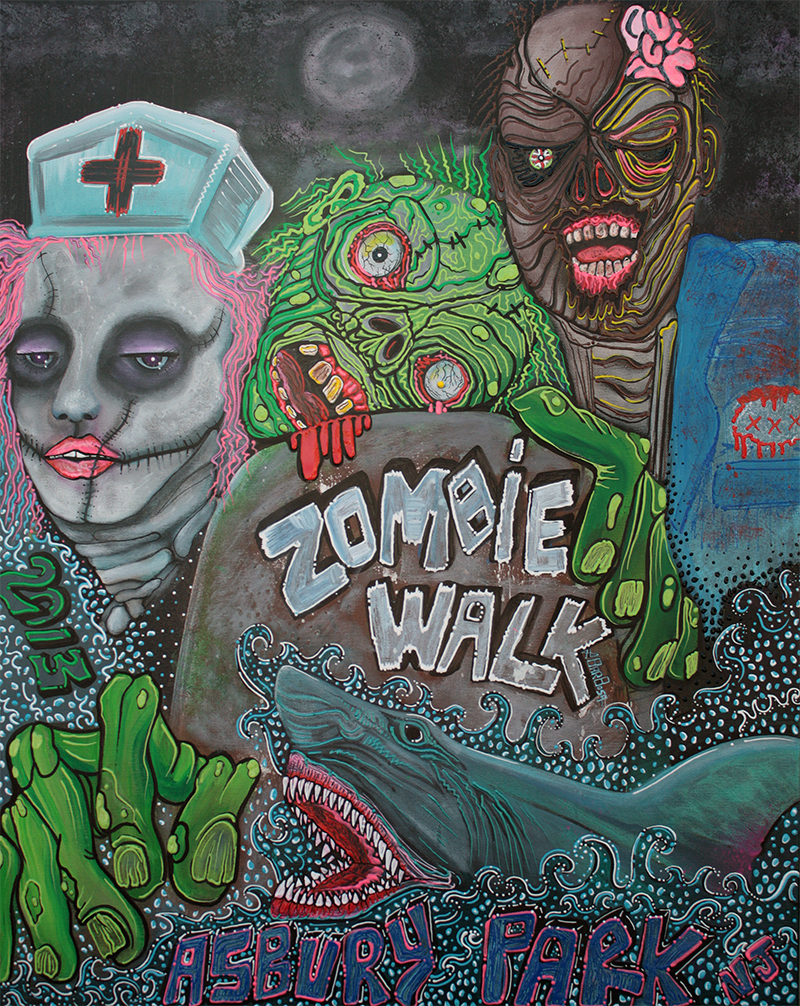 Zombie Walk by Laura Barbosa 2013 - display