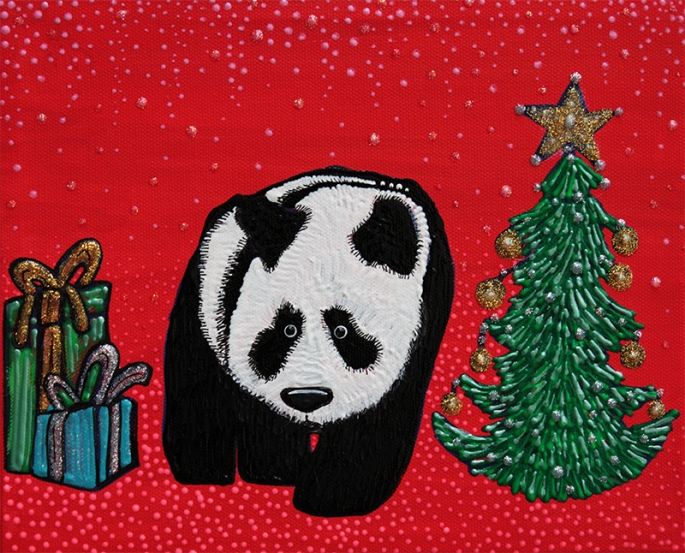A Panda For Christmas by Laura Barbosa - display