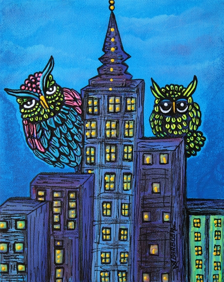 NIGHT OWLS BY LAURA BARBOSA - display