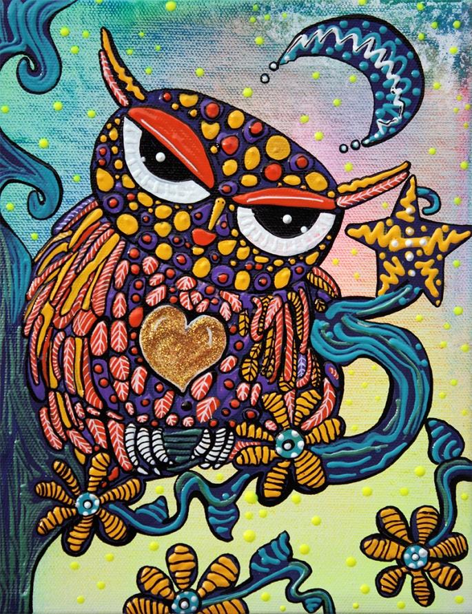 Mystical Owl by Laura Barbosa - display
