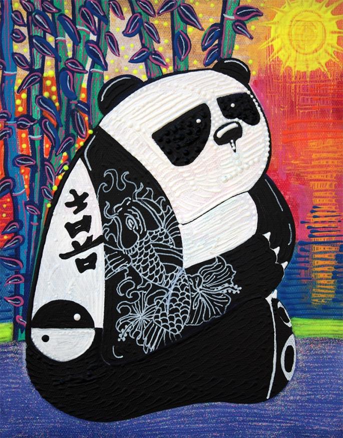 Panda Zen Master by Laura Barbosa - display