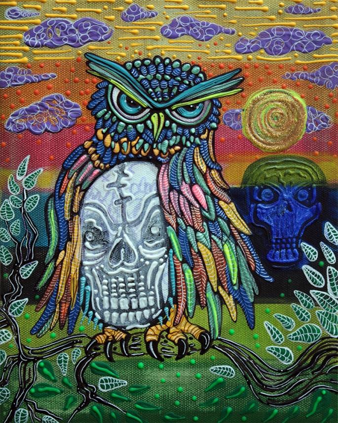 Sacred Skull by Laura Barbosa - display
