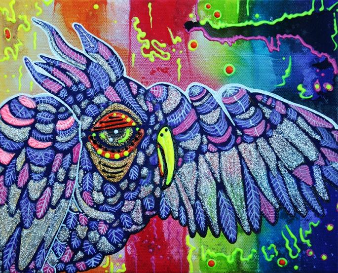 Street Wise Owl by Laura Barbosa - display