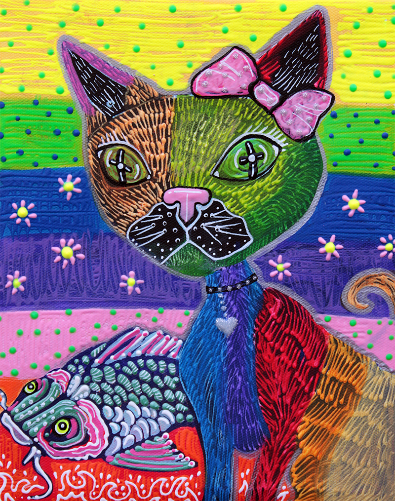 The Cat and The Koi by Laura Barbosa - display