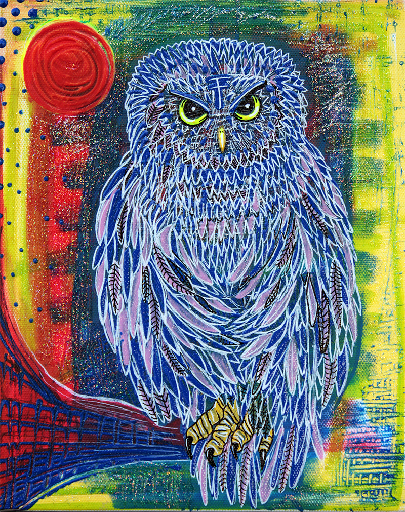 The Great Owl by Laura Barbosa - display