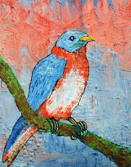Blue Bird Beauty by Laura Barbosa - display