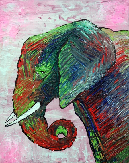 Elephant Colors by Laura Barbosa - display