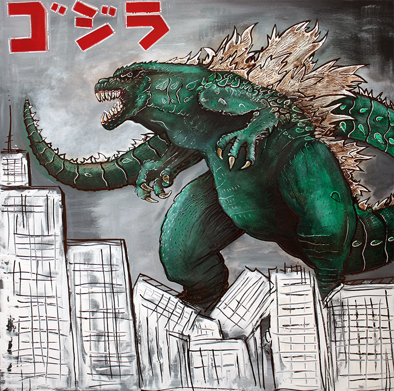 Godzilla by Laura Barbosa - display