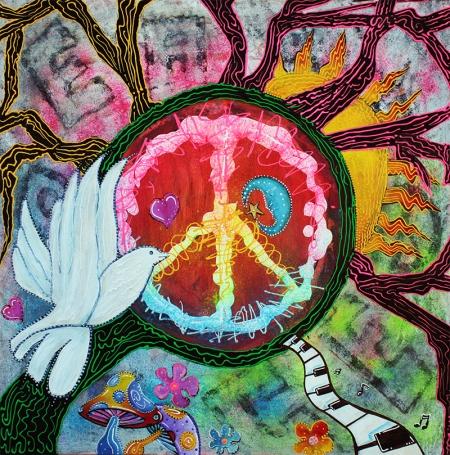 Peace Tree by Laura Barbosa - display