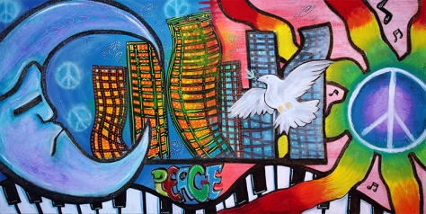 Peaceful City by Laura Barbosa - display