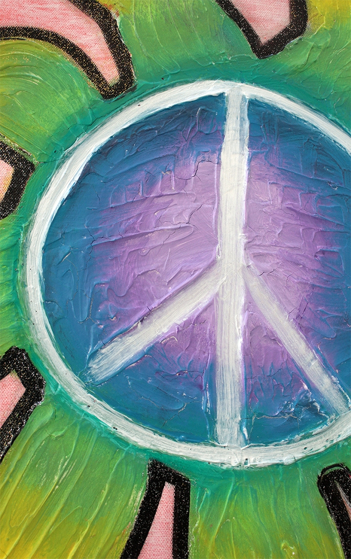 Peaceful City by Laura Barbosa - peace sign