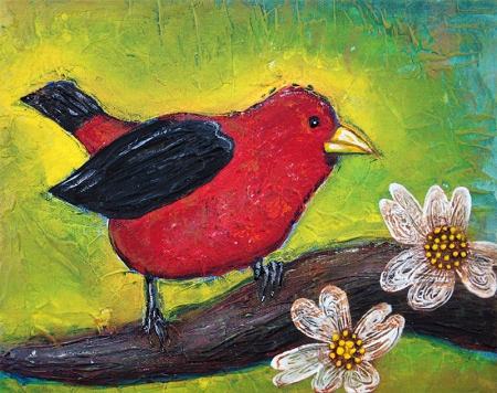 Scarlet Tanager by Laura Barbosa - songbird display
