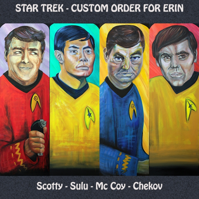Star Trek Display - 4 Portraits