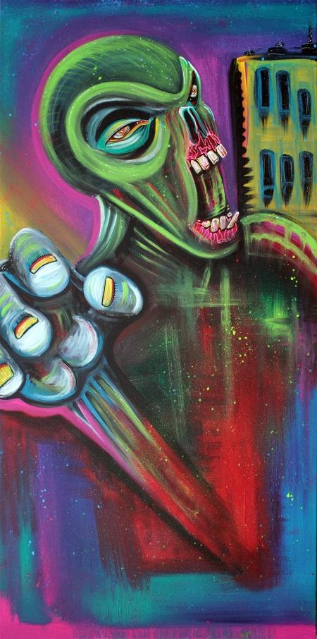 Alien Zombie by Laura Barbosa - display