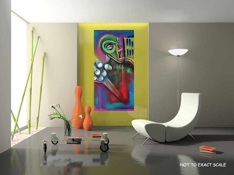 Alien Zombie by Laura Barbosa - Modern Art
