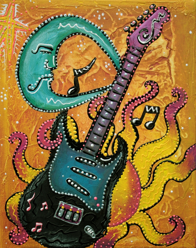 Celestial Guitar by Laura Barbosa - display