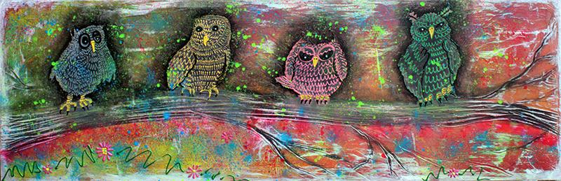 Owl Totem by Laura Barbosa - display