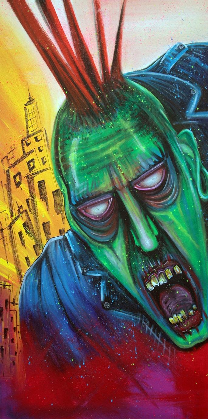 Punk Rock Zombie by Laura Barbosa - display