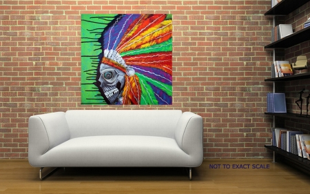 Indian Chief Spirit by Laura Barbosa - Contemporary Art
