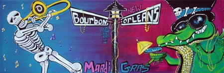 Mardi Gras Celebration by Laura Barbosa - display