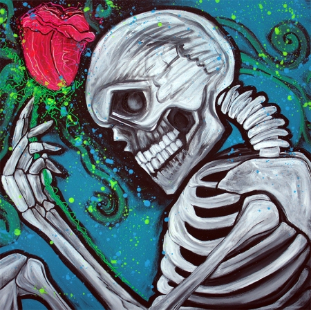 Skeleton Rose by Laura Barbosa - display