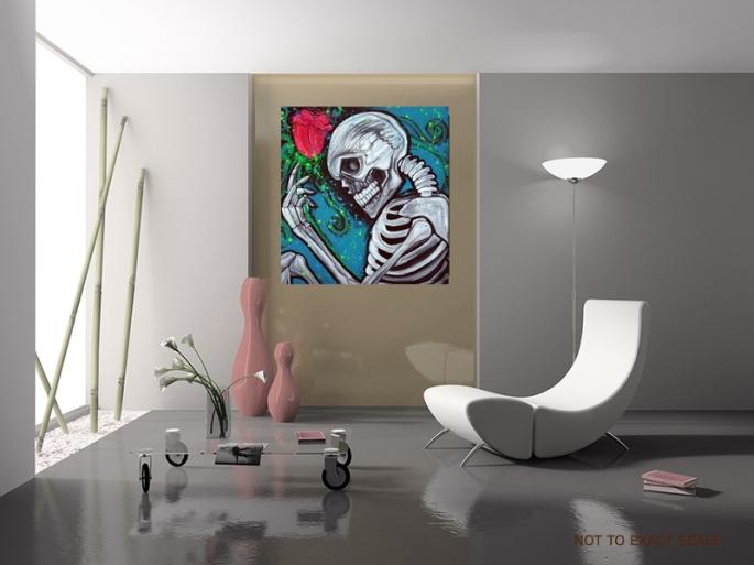 Skeleton Rose by Laura Barbosa - Pop Art