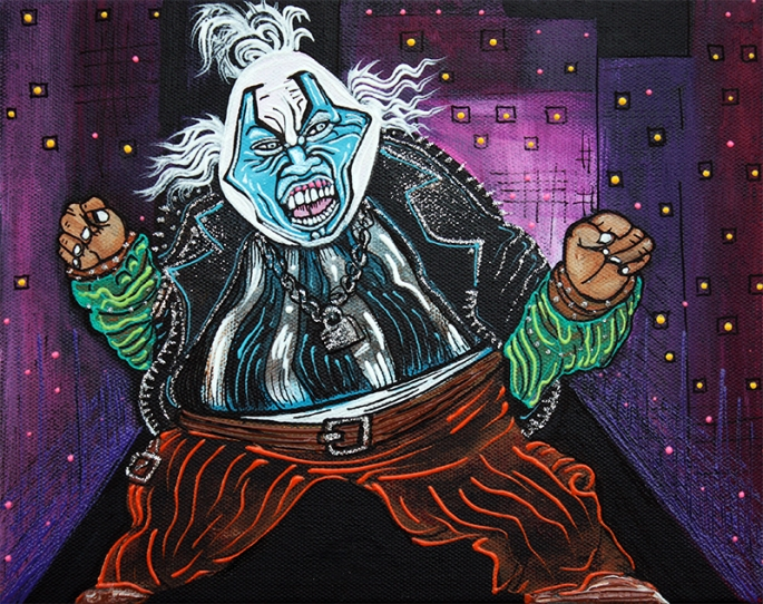 Blue Faced Clown by Laura Barbosa - display