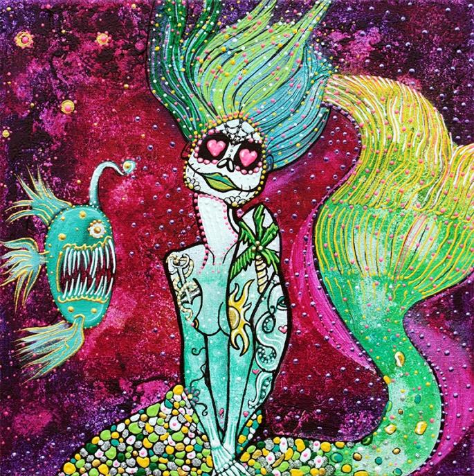 Angler Mermaid by Laura Barbosa - display