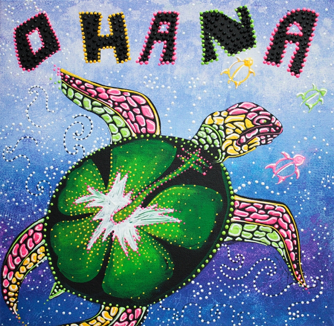 Ohana Means Family by Laura Barbosa - display