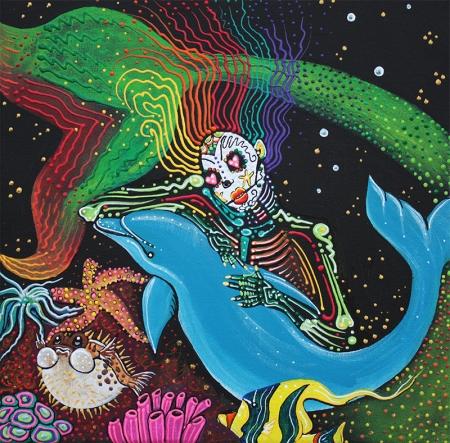 Rainbow Mermaid by Laura Barbosa - display