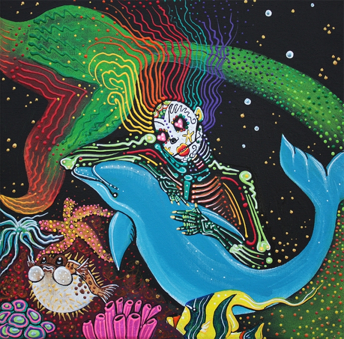 Rainbow Mermaid by Laura Barbosa - display