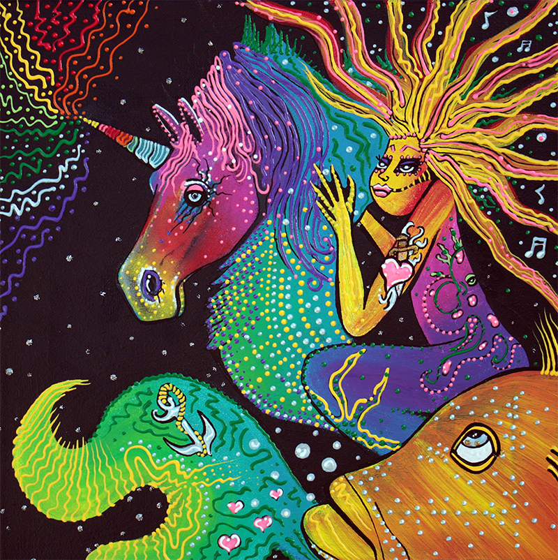Ride The Rainbow by Laura Barbosa - display