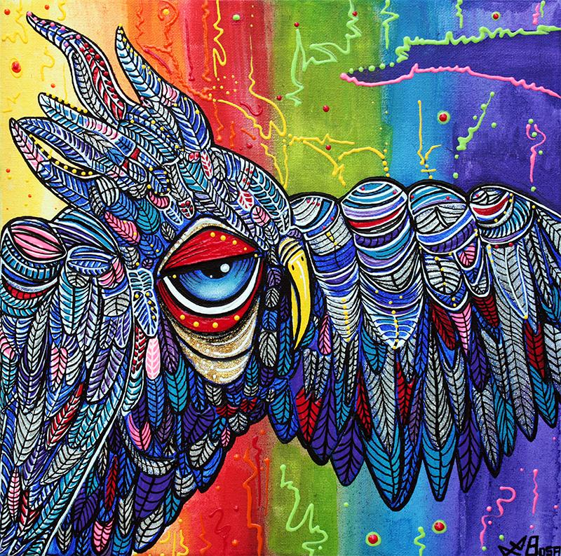 Street Wise Owl 2 by Laura Barbosa - display
