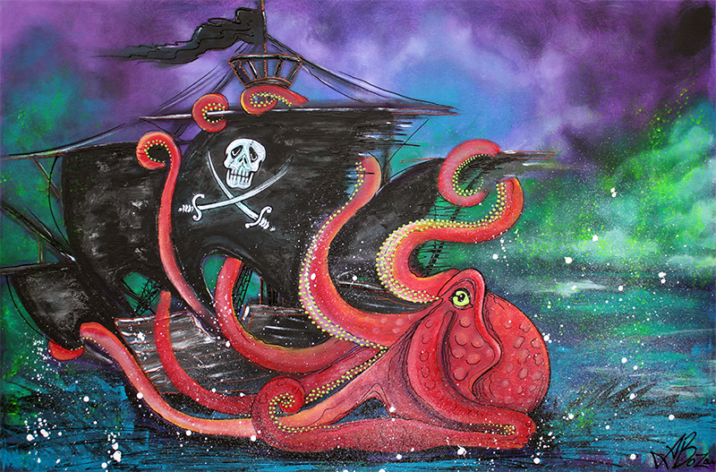 A Pirates Tale - Attack Of The Mutant Octopus - display