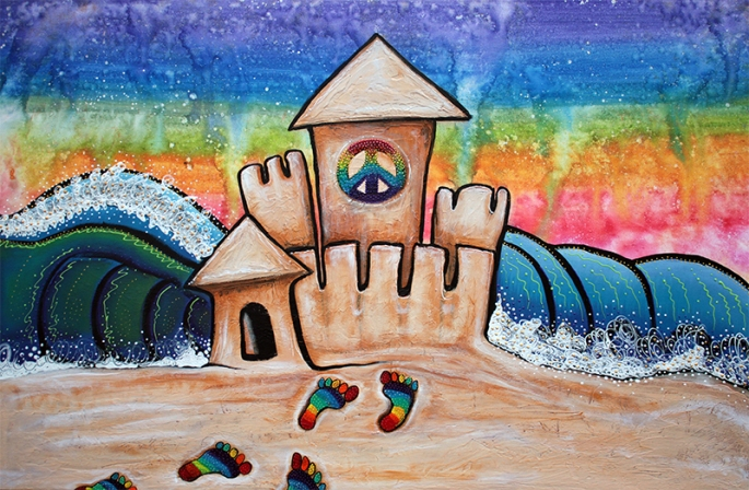 Hippie Sand Castle by Laura Barbosa - display