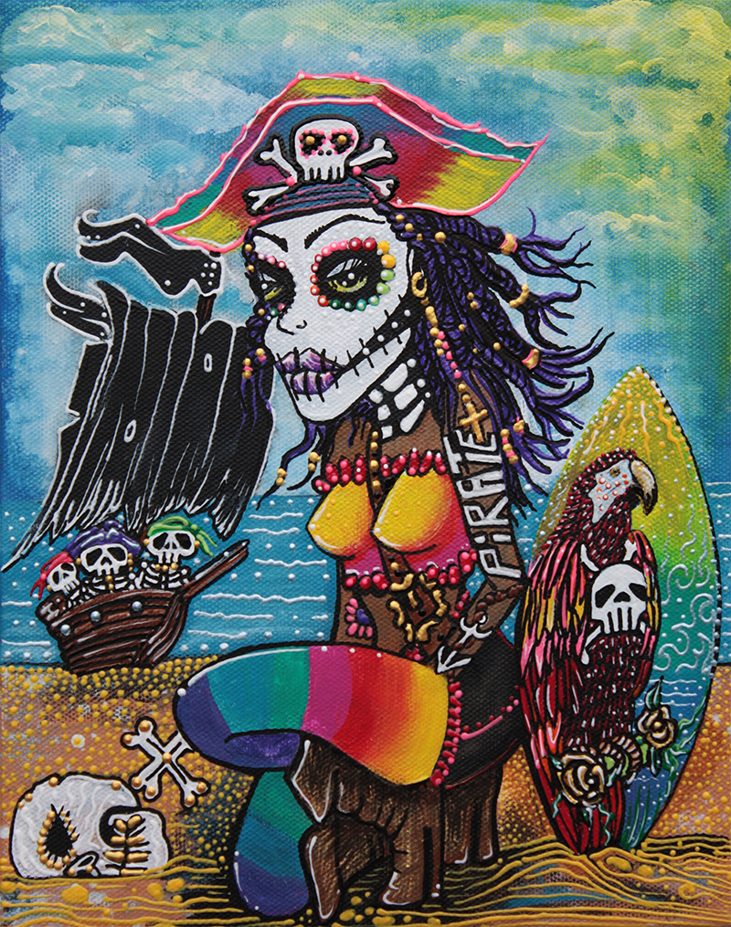 Pirate Girl - Surfs Up by Laura Barbosa - display