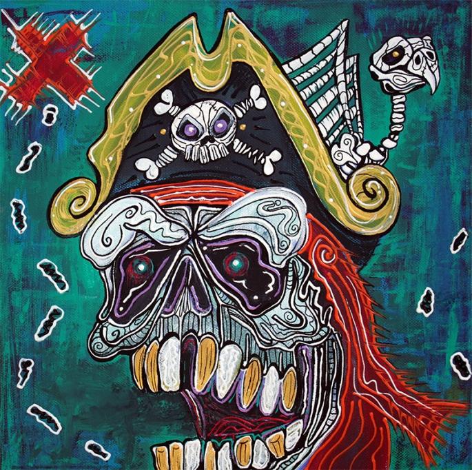 Pirate Treasure Map by Laura Barbosa - display