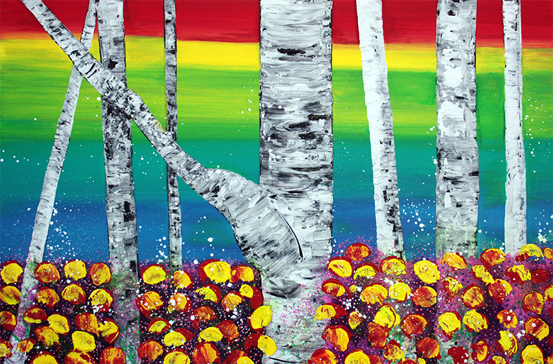 Rainbow Forest by Laura Barbosa - display